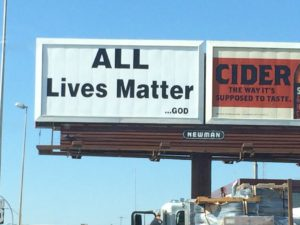 "An ""All Lives Matter"" billboard popped up in downtown Fargo before the ""Black Lives Matter"" billboard."